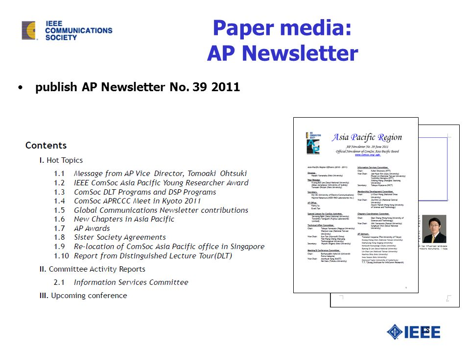 Paper media: AP Newsletter publish AP Newsletter No.