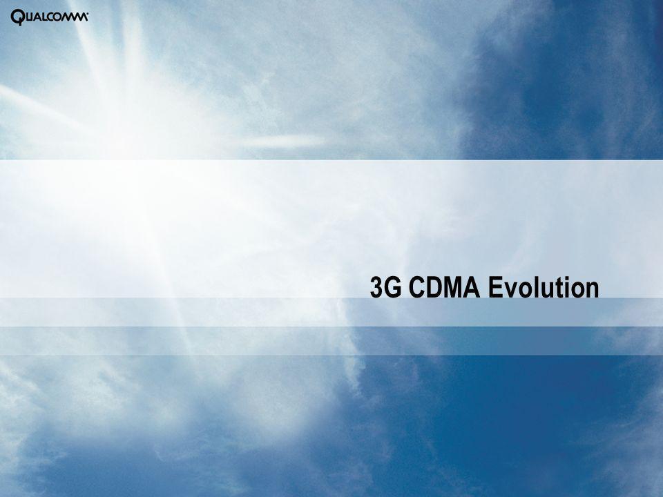 3G CDMA Evolution