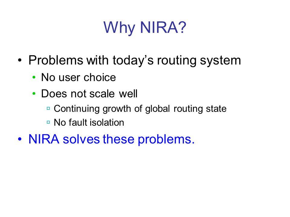 Why NIRA.