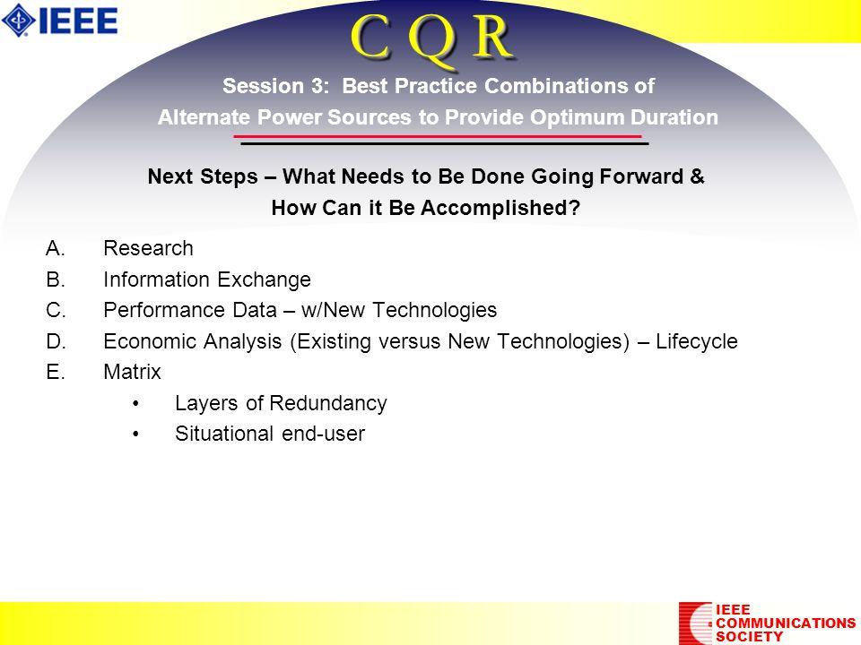 C Q R A. A.Research B. B.Information Exchange C.