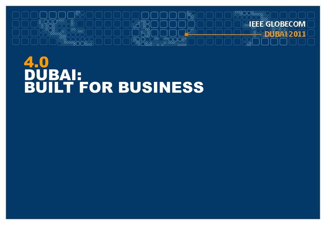 4.0 DUBAI: BUILT FOR BUSINESS