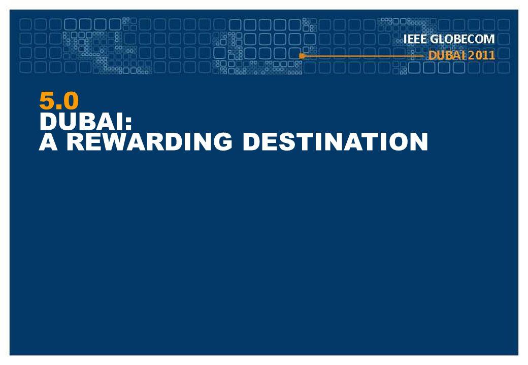 5.0 DUBAI: A REWARDING DESTINATION