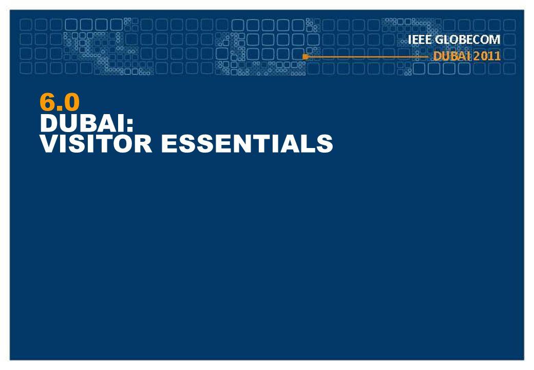 6.0 DUBAI: VISITOR ESSENTIALS