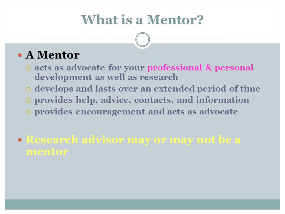 What is a Mentor.