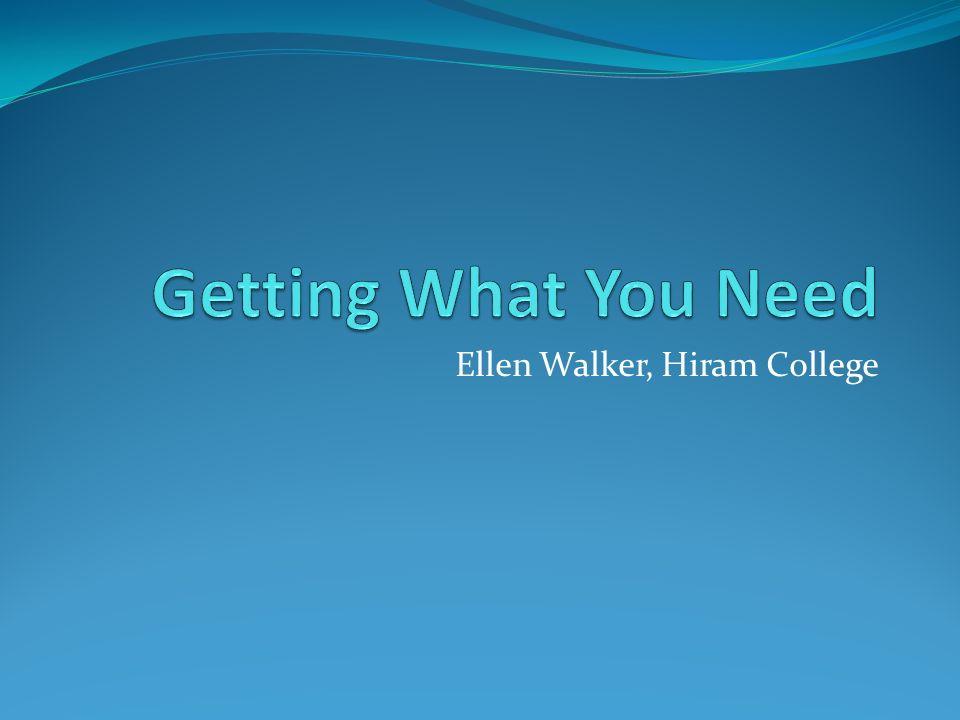Ellen Walker, Hiram College