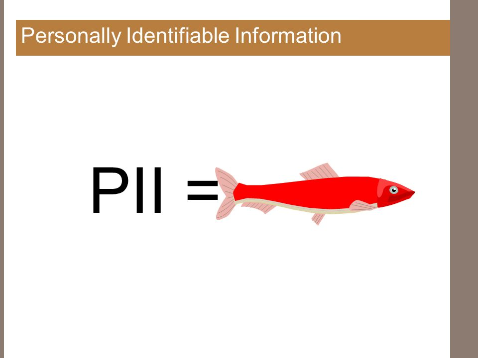 Personally Identifiable Information PII =