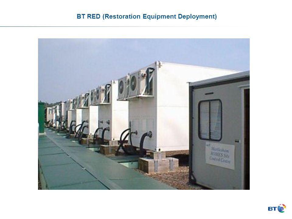 BT RED (Restoration Equipment Deployment)