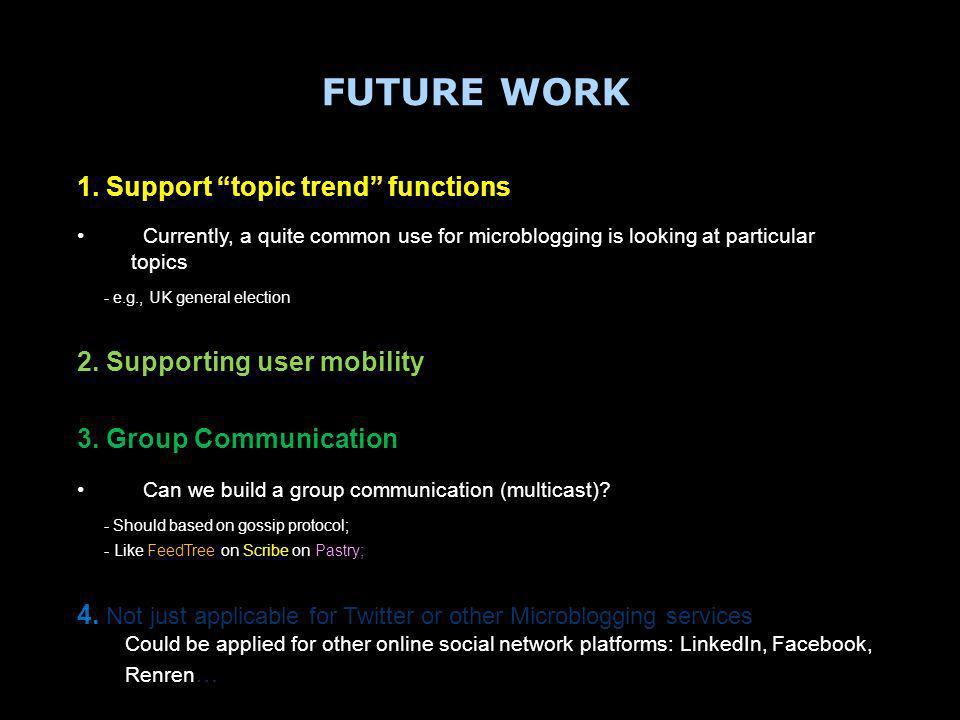 FUTURE WORK 1.