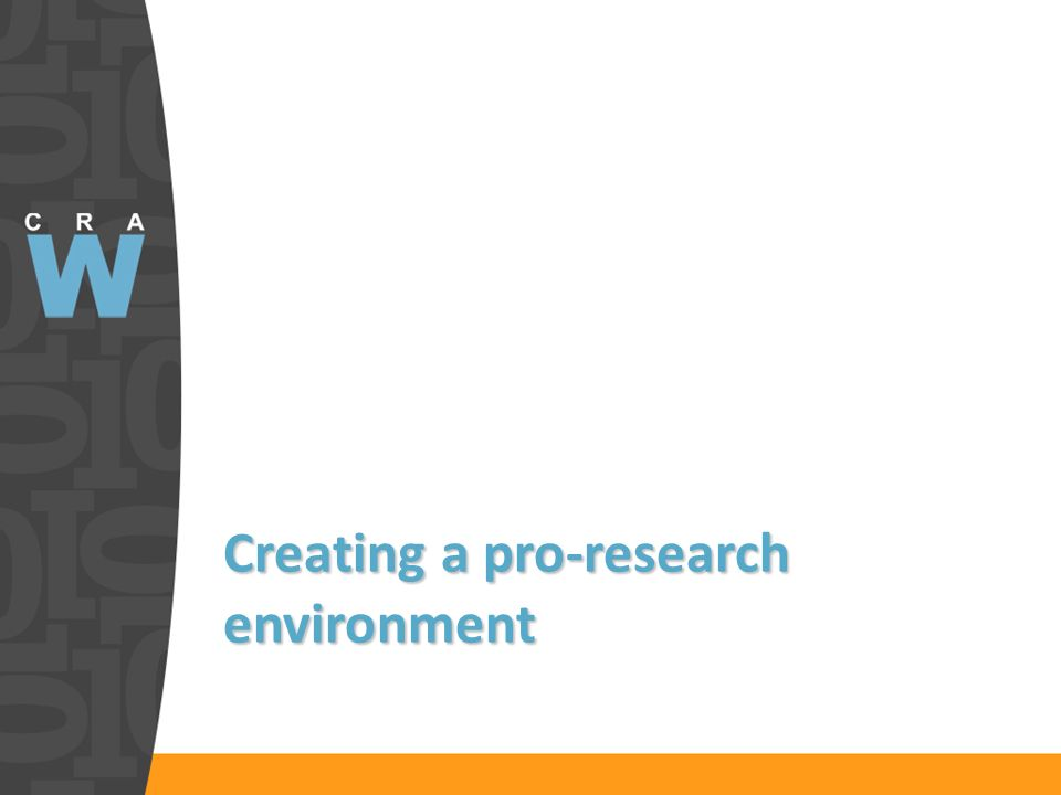 Creating a pro-research environment
