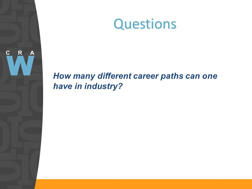 Questions How many different career paths can one have in industry
