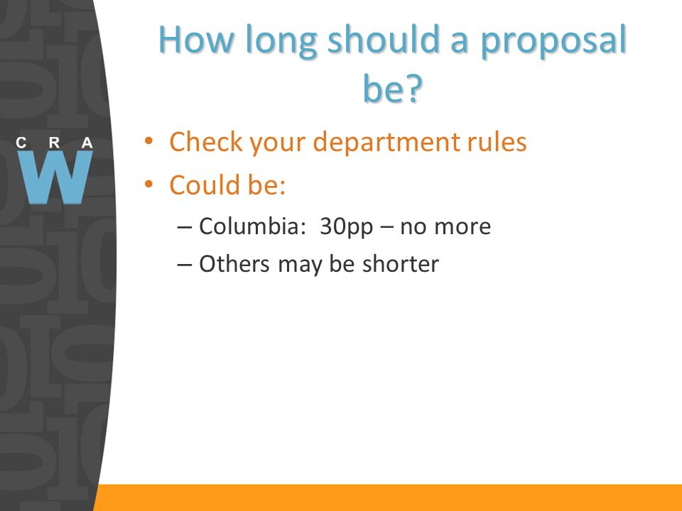 How long should a proposal be.