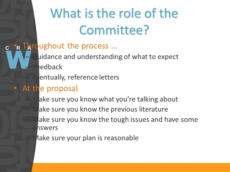What is the role of the Committee.