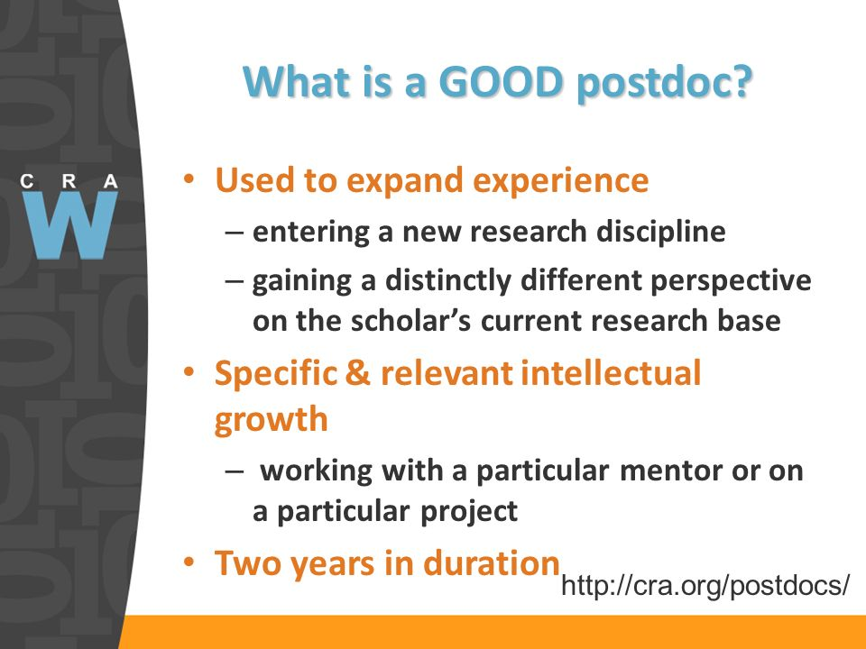 What is a GOOD postdoc.