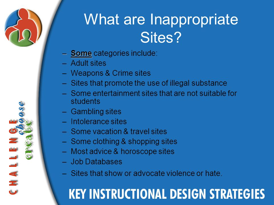 What are Inappropriate Sites.