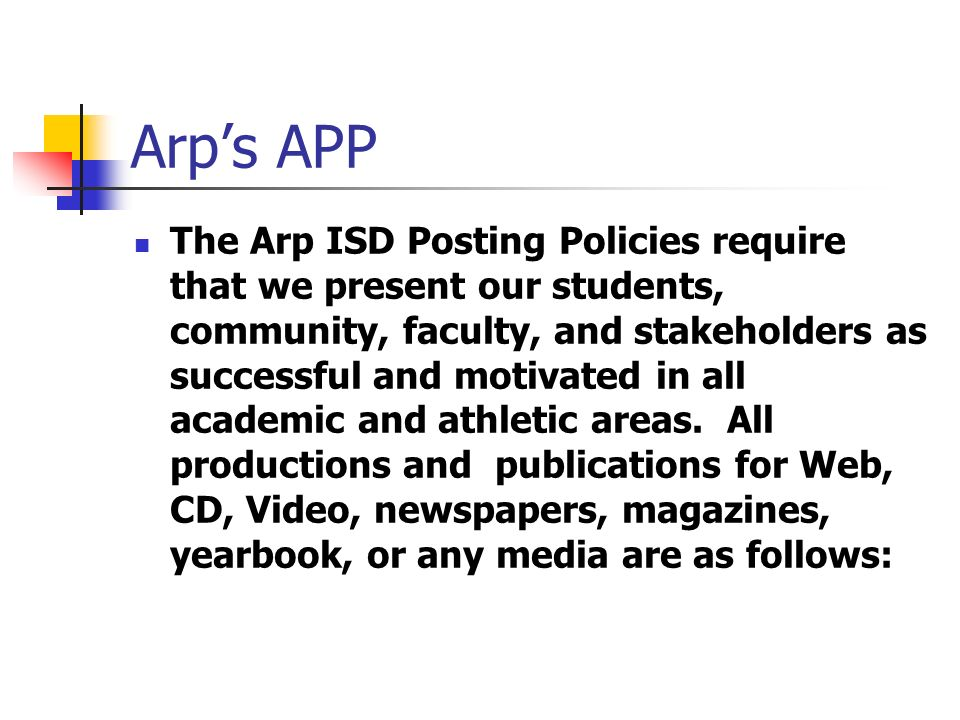 Posting Policies 1.Promote successful students and educational practices 2.