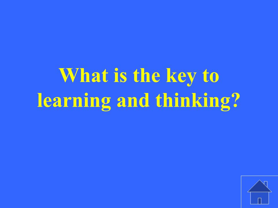 What is the key to learning and thinking?