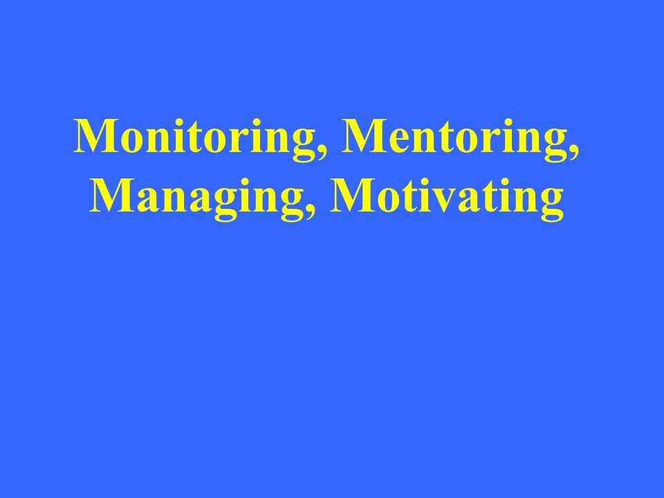 Monitoring, Mentoring, Managing, Motivating