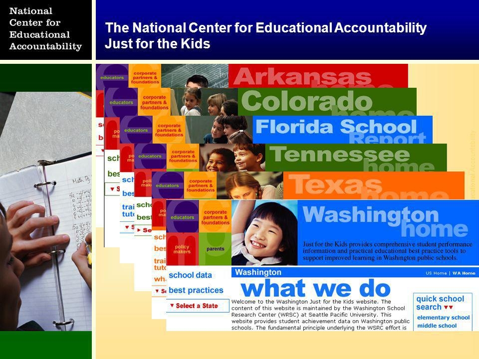 © National Center for Educational Accountability The National Center for Educational Accountability Just for the Kids