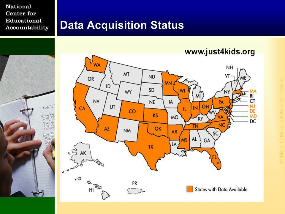 © National Center for Educational Accountability Data Acquisition Status www.just4kids.org