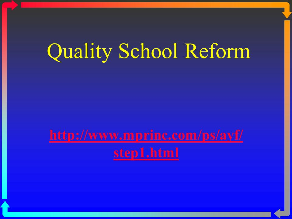 WHAT MUST BE AVAILABLE Coordination of Resources: Identify resources to support and sustain the school s comprehensive reform effort. Evaluation Strategies: Plan for the evaluation of strategies for the implementation of school reforms and for student results achieved, annually.