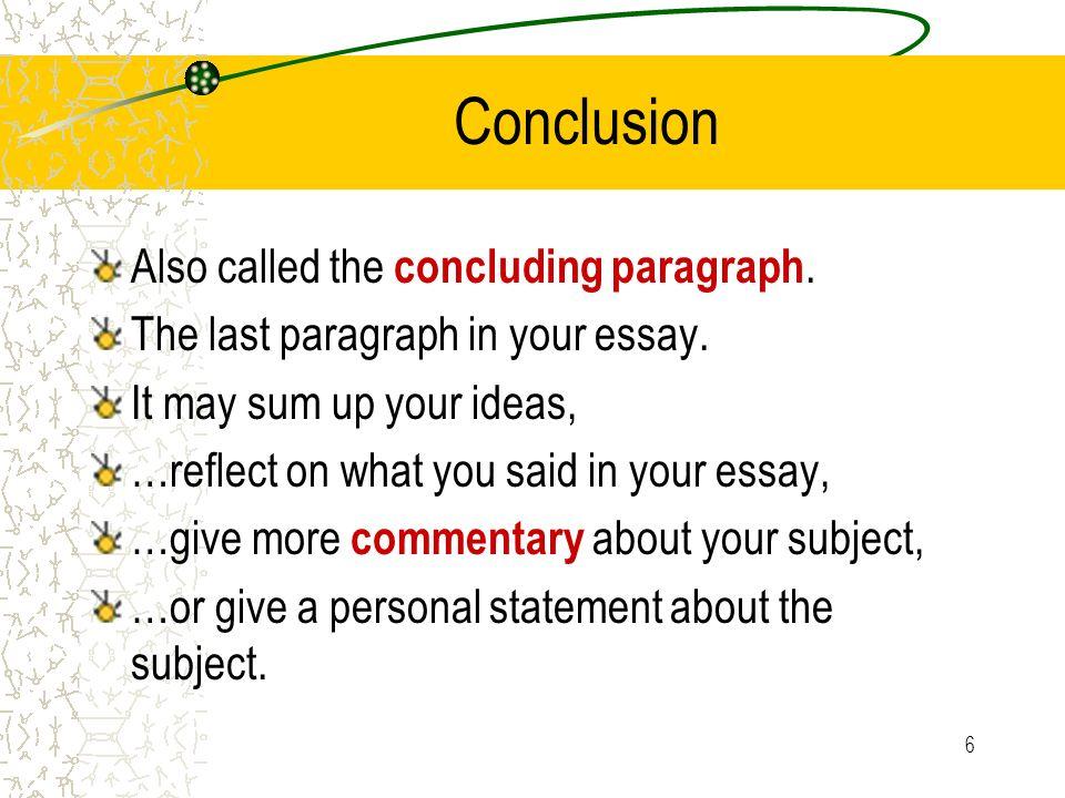 start concluding paragraph essay