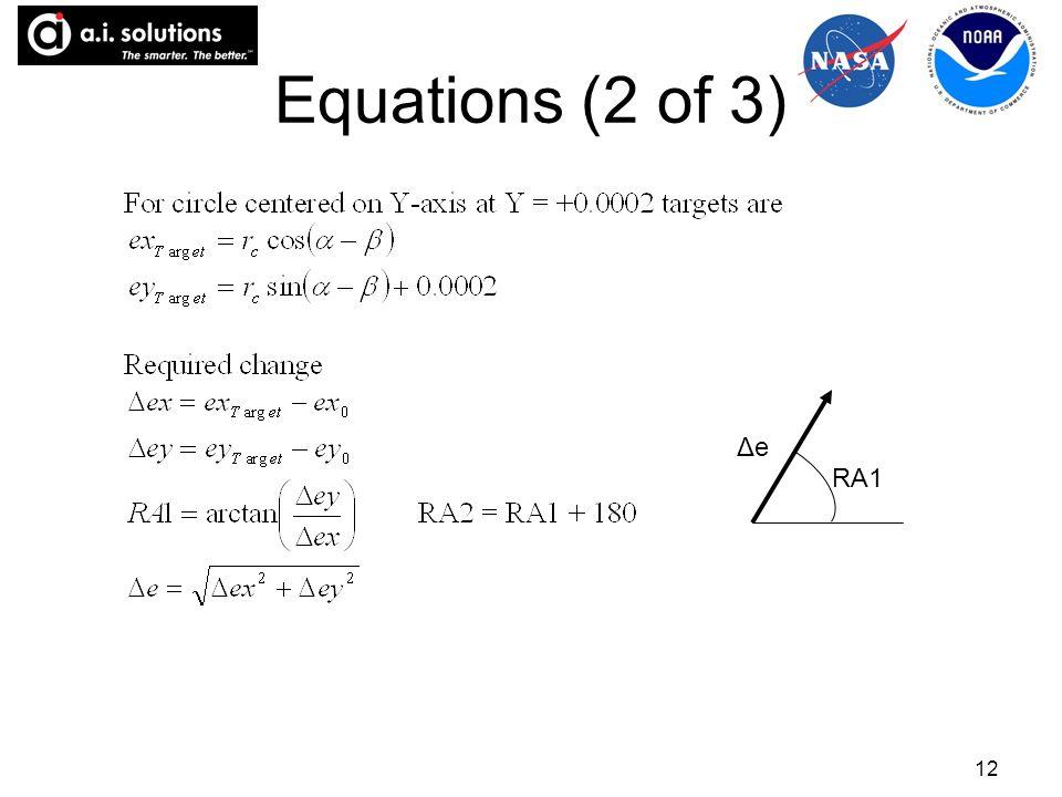 12 Equations (2 of 3) ΔeΔe RA1