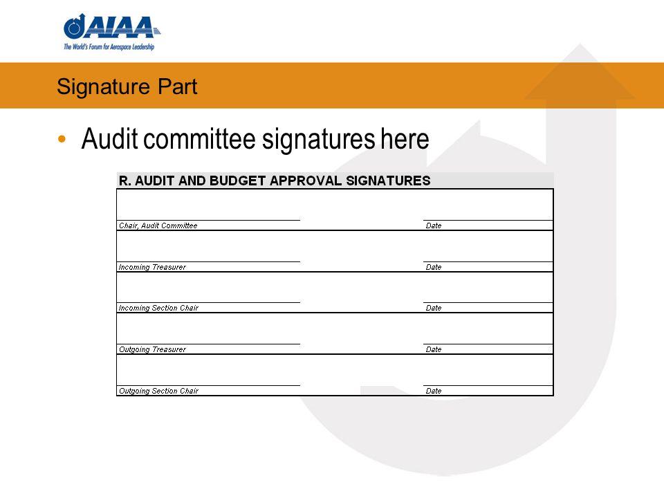 Signature Part Audit committee signatures here