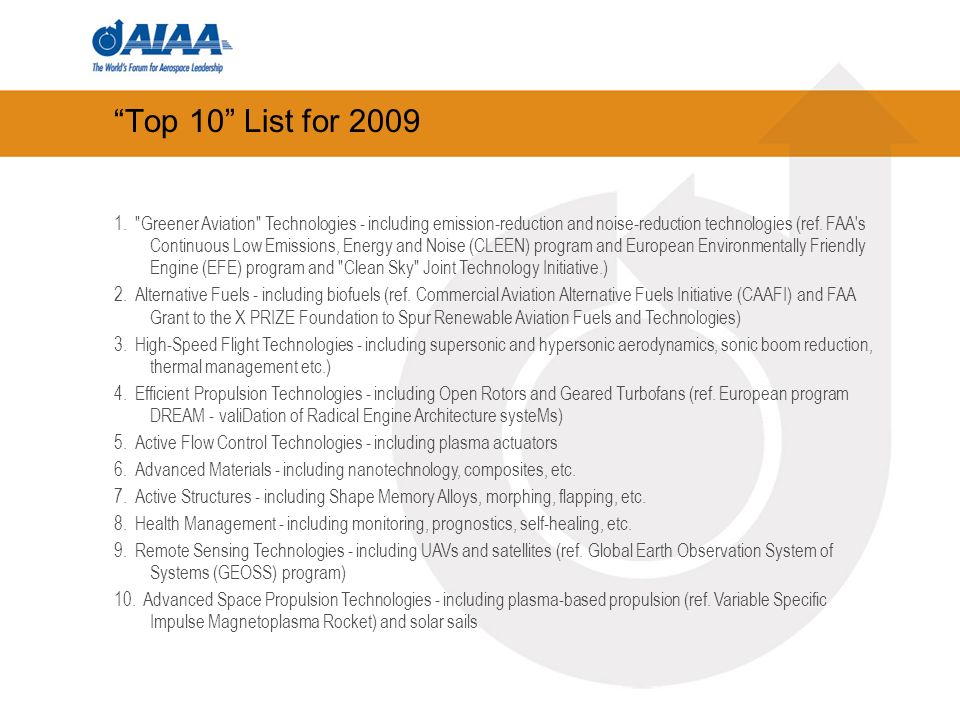 Top 10 List for 2009 1.