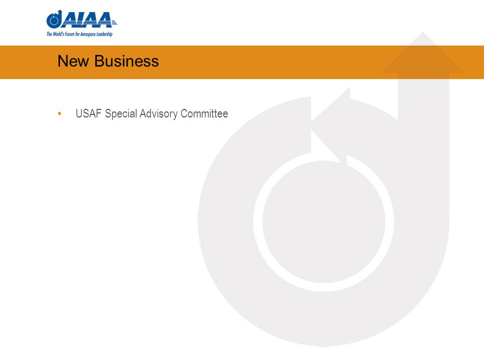 New Business USAF Special Advisory Committee