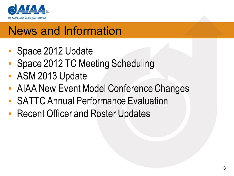 SAT TC @ Space 2012 SPACE 2012 When: Tuesday, September 11 – Thursday, September 13 Where: Pasadena Convention Center, Pasadena, CA Registration Now Open.