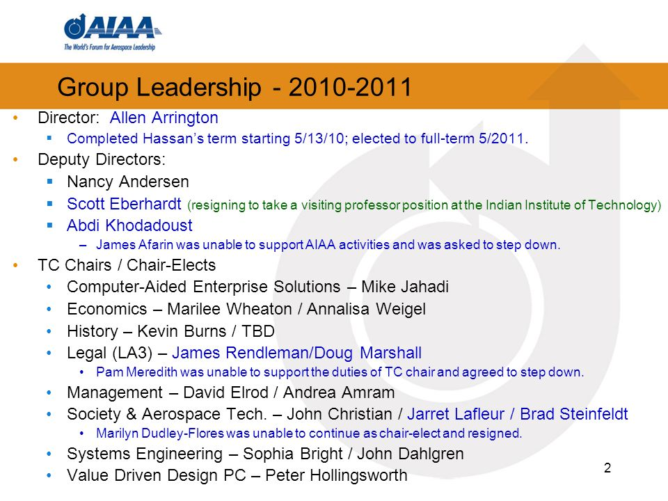 Highlights Conference Related: Great support by ETM for Space 2010 SATTC – Organized the Delta Forum at ASM 2011.