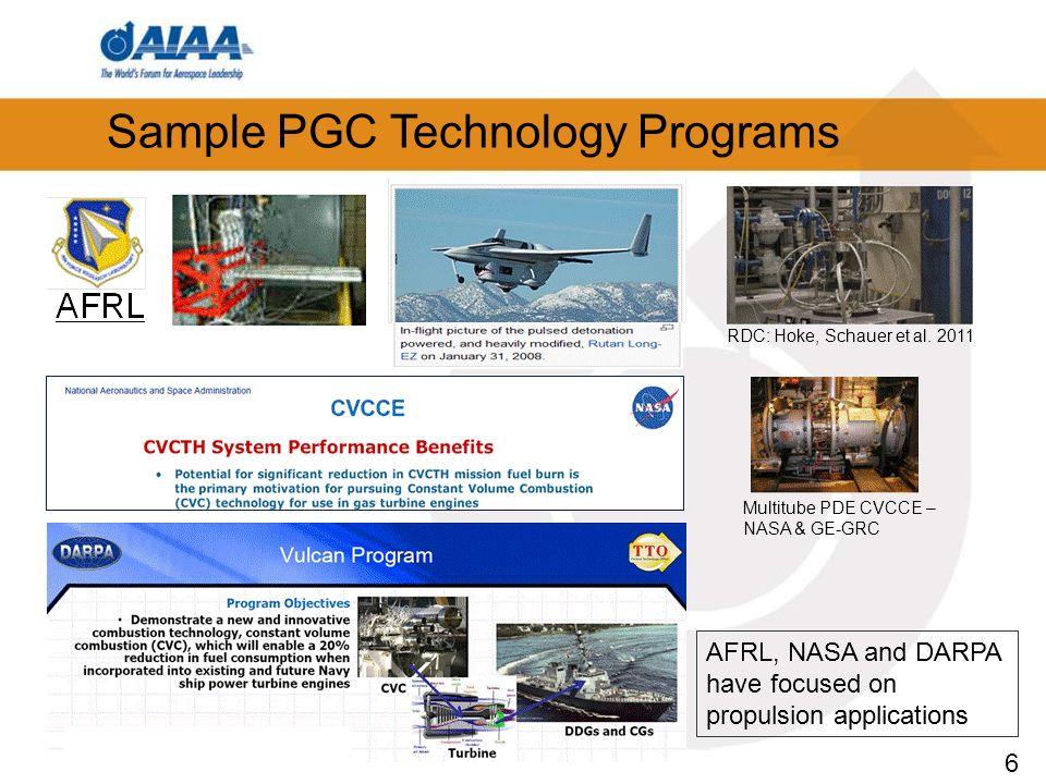 6 Sample PGC Technology Programs