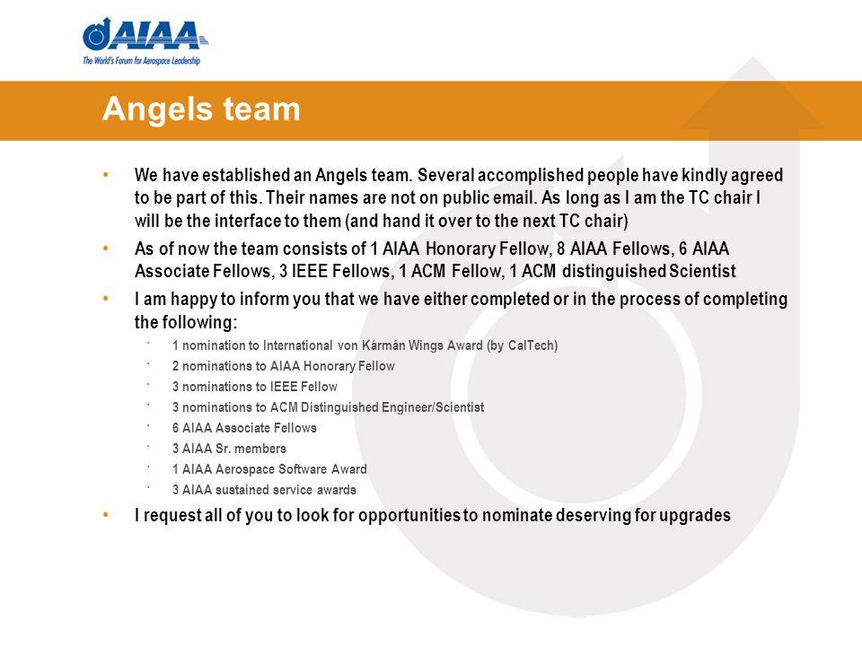 Angels team We have established an Angels team.