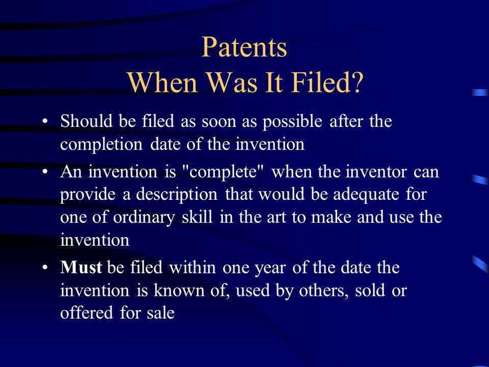 Patents - What Do You Have. What problem is solved.