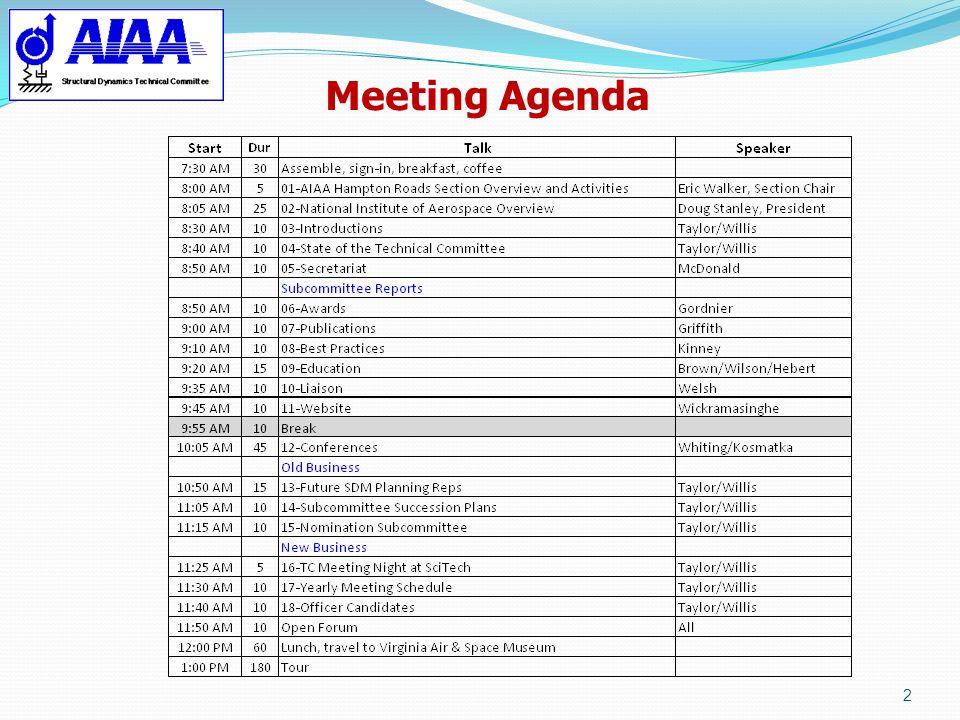 Meeting Agenda 2