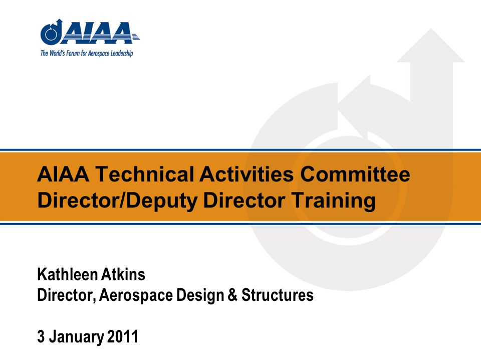 2 Outline Goals and Objectives What is the AIAA.Who are the Institutes members.