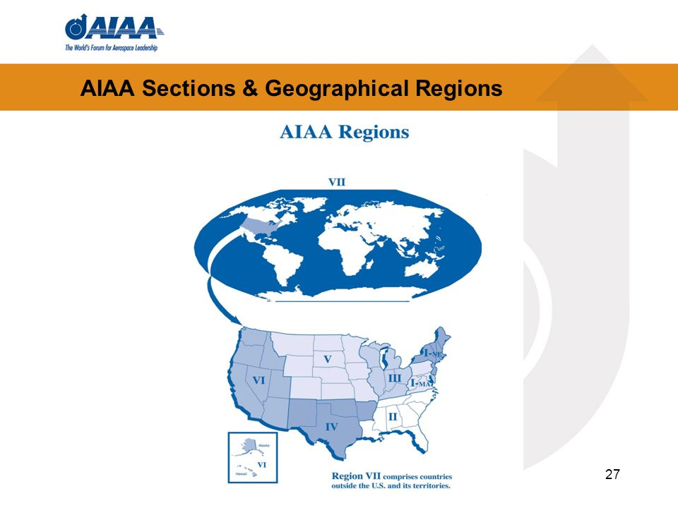AIAA Sections & Geographical Regions 27