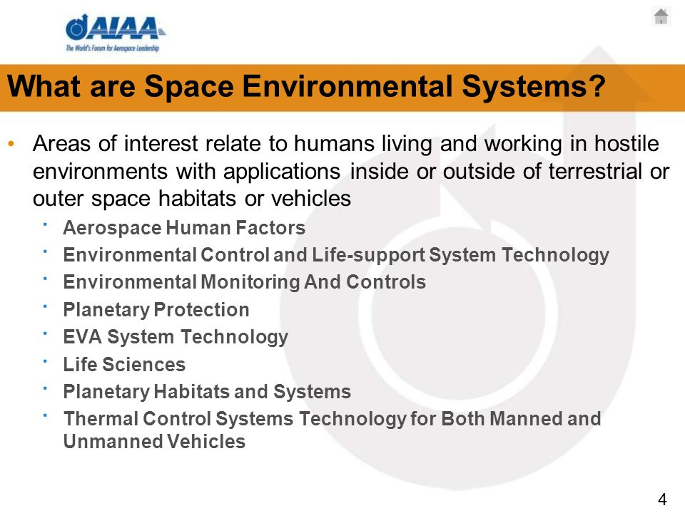 4 What are Space Environmental Systems.
