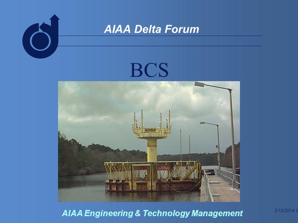 2/13/2014 7 AIAA Delta Forum AIAA Engineering & Technology Management BCS