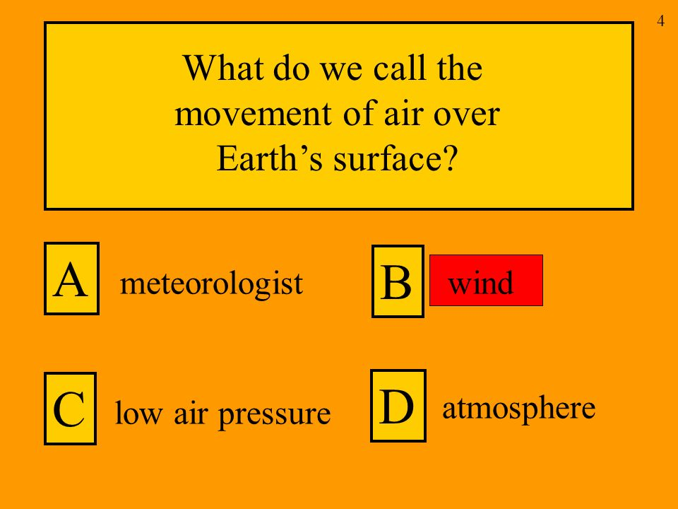 What do we call the movement of air over Earths surface.