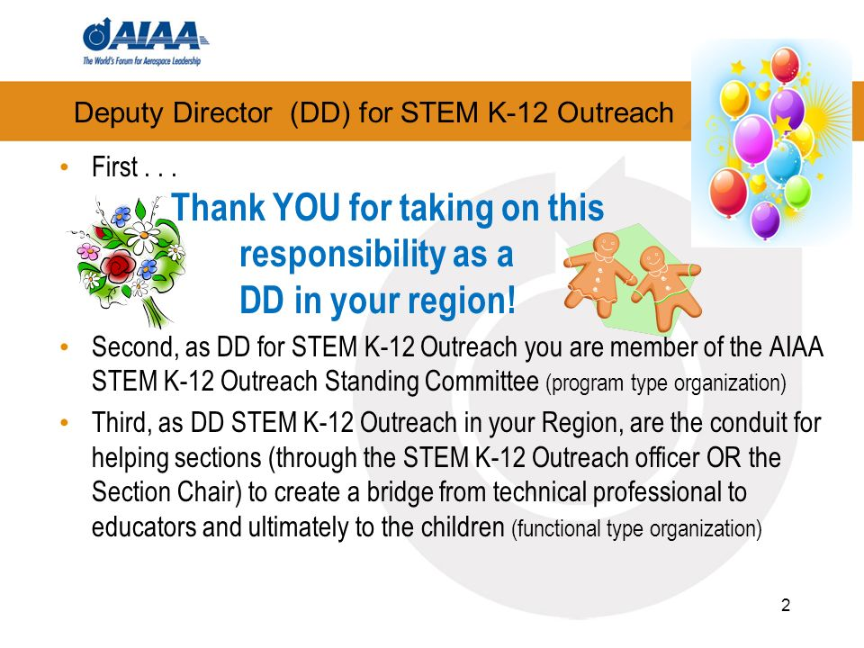 Deputy Director (DD) for STEM K-12 Outreach First...