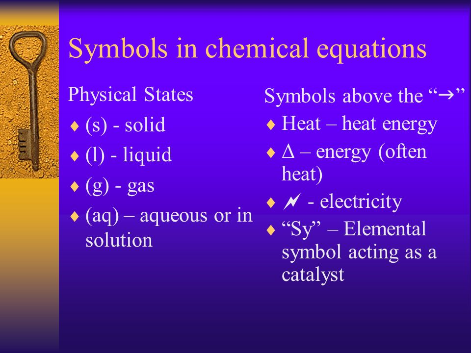 Balancing Chemical Equations Lets look at the previously discussed iron equation when it is balanced… 2Fe (s) + 3Cl 2(g) 2FeCl 3(s) Notice that there are 2 atoms of iron and 6 atoms of chlorine.
