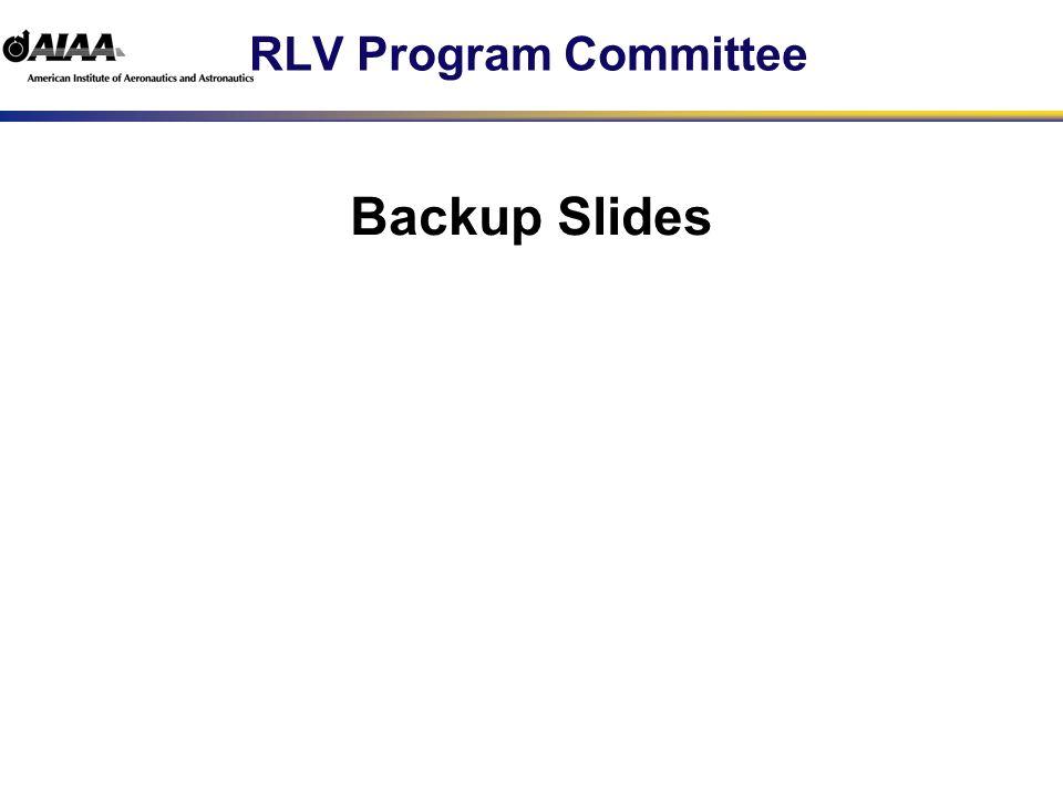 RLV Program Committee Backup Slides