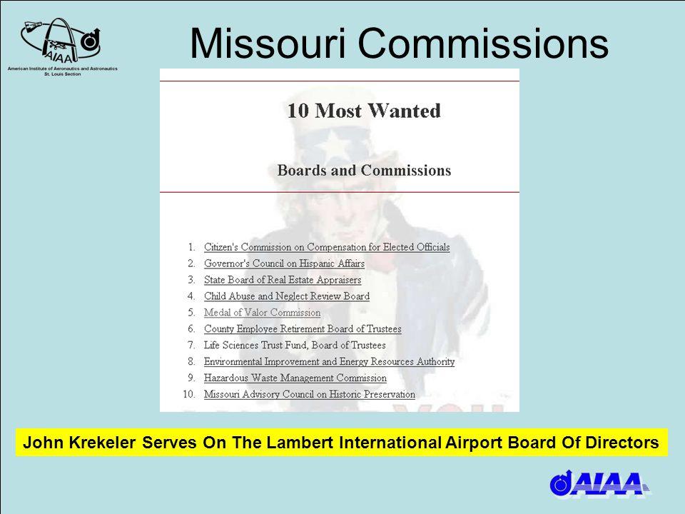 Missouri Commissions John Krekeler Serves On The Lambert International Airport Board Of Directors