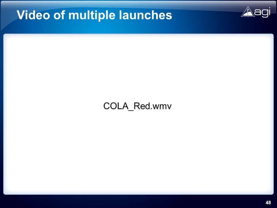 48 Video of multiple launches COLA_Red.wmv