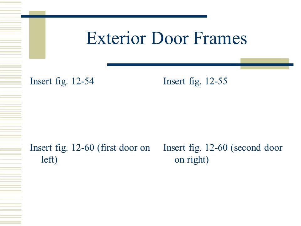 Exterior Door Frames Insert fig. 12-54Insert fig. 12-55 Insert fig. 12-60 (first door on left) Insert fig. 12-60 (second door on right)