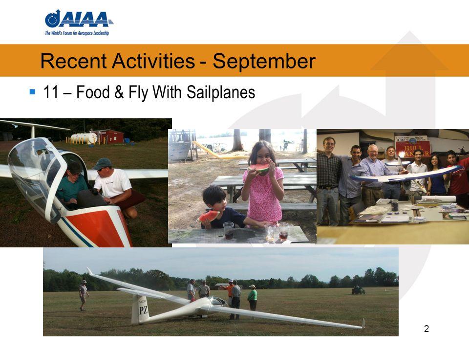3 Recent Activities - September 25 – Council Meeting 27 – Newsletter releasedreleased