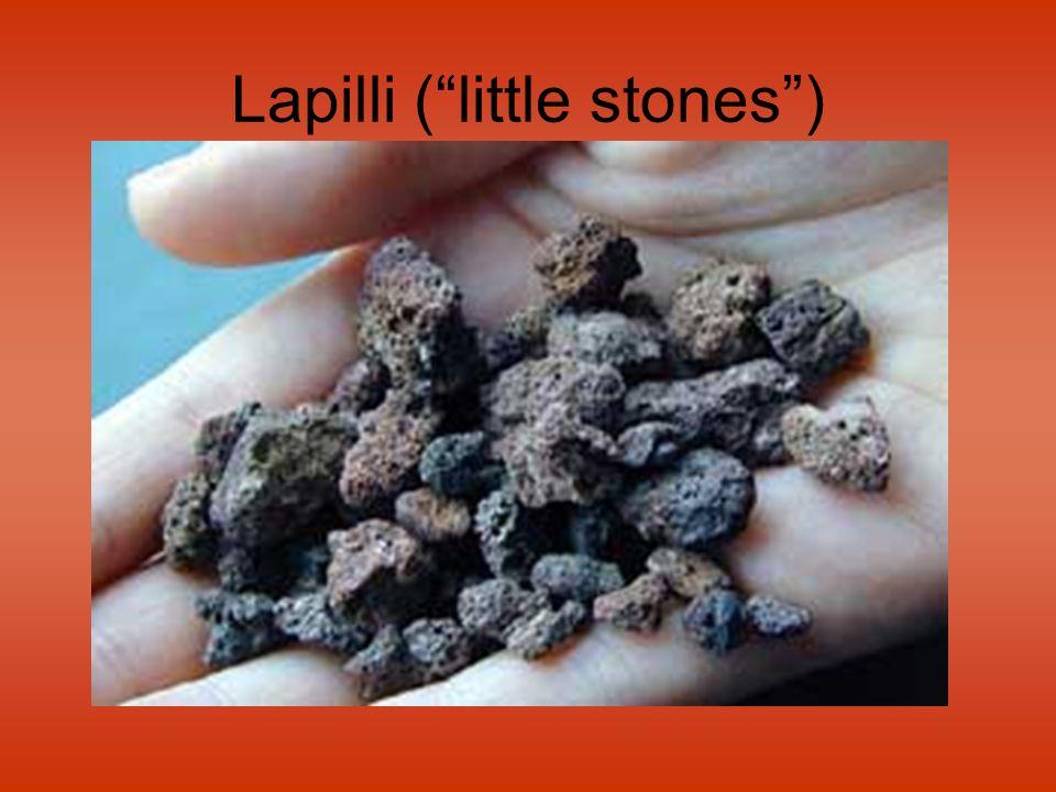 Lapilli (little stones)