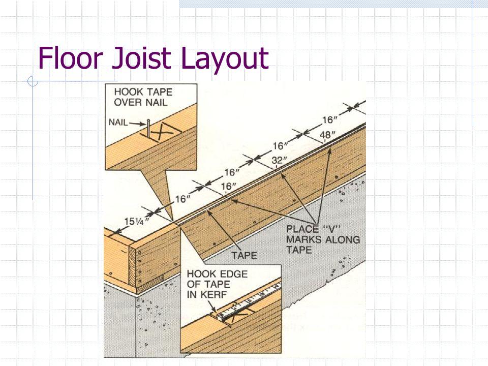 Floor Joist Layout
