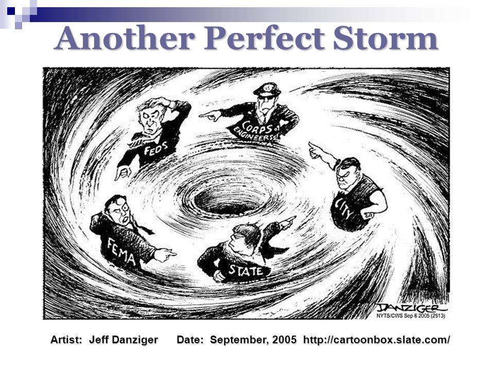 Another Perfect Storm Artist: Jeff Danziger Date: September, 2005 http://cartoonbox.slate.com/